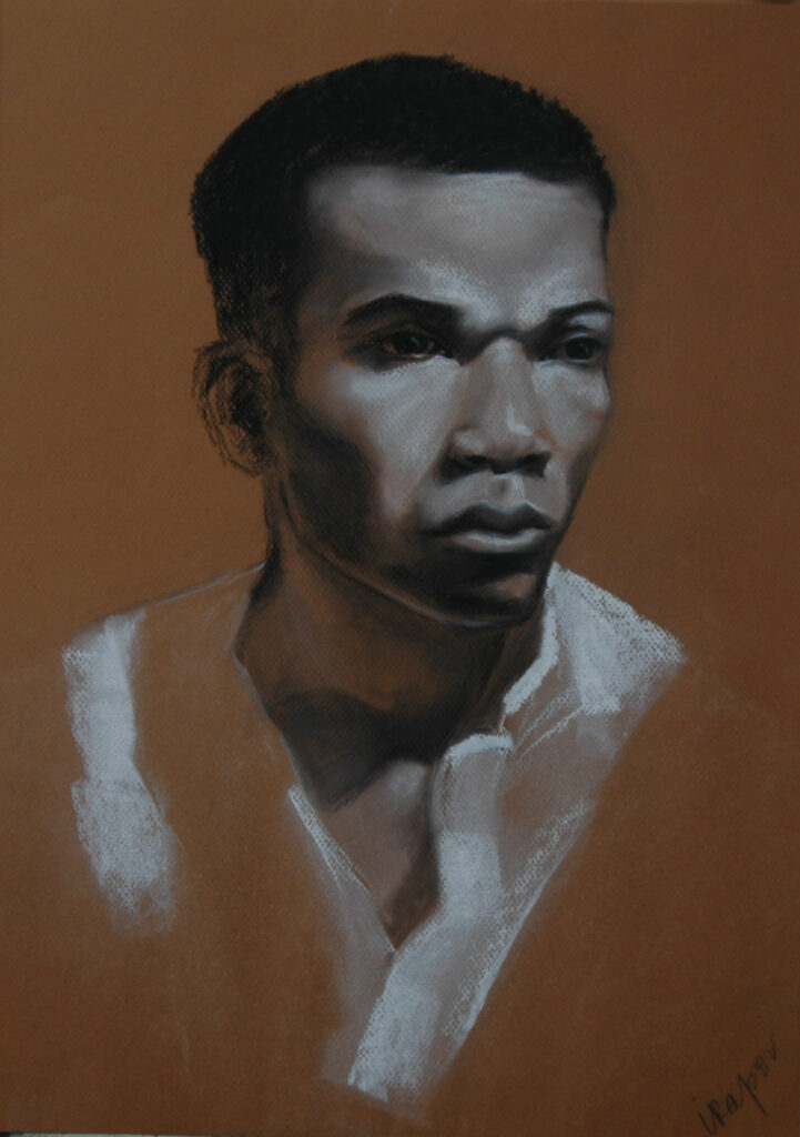 """Portrait of a Young Man 2. Charcoal/Pastel on Paper. 20x16"""""""
