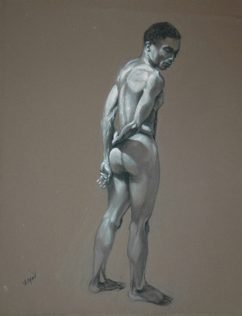 """Young Man 2. Charcoal/Pastel on Paper. 24x18"""""""