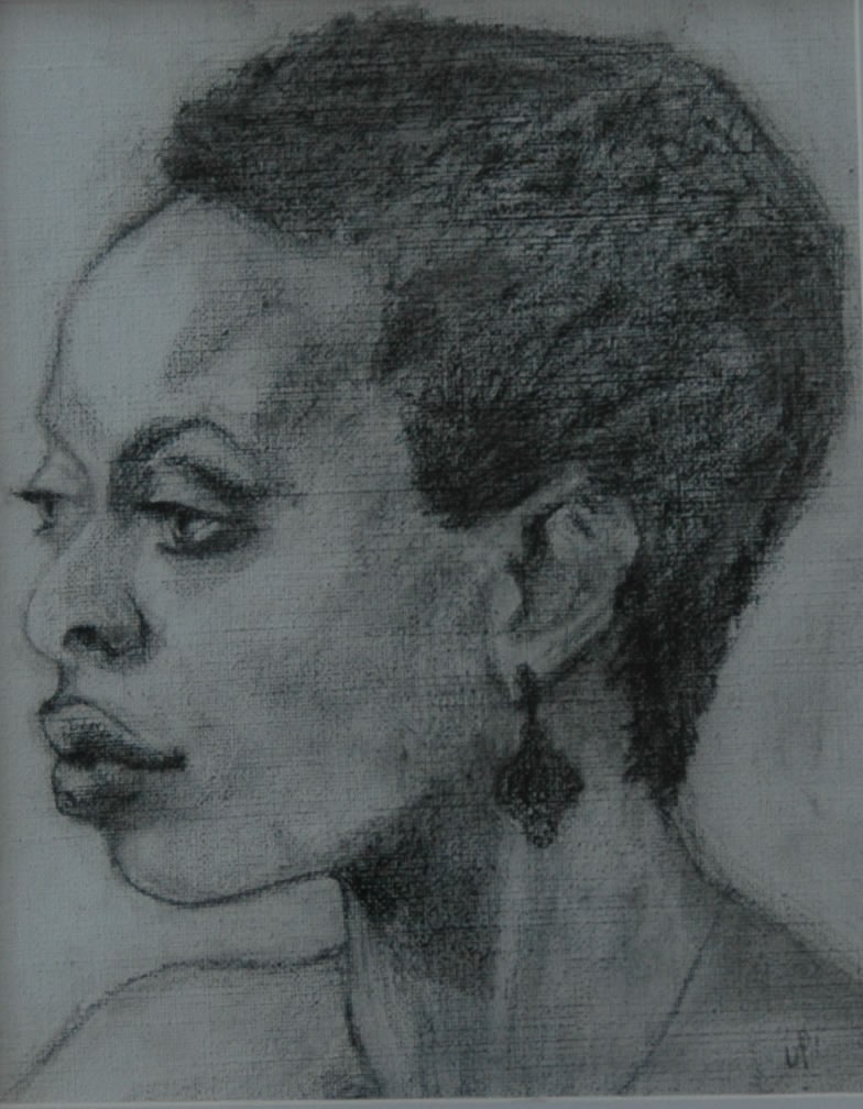 """Portrait of a Woman 3. Charcoal on Canvas. 14x11"""""""